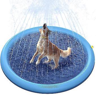 Jouer Refroidissement Pet Sprinkler Mat Piscine Extérieure Gonflable Water Spray Pad (170cm)