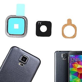 Tylna kamera obiektyw szklany okładka metalowa rama naklejki dla Samsung Galaxy