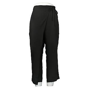 WynneLayers av MarlaWynne Dame Bukser Crepe Wrap Bukse Svart 655365