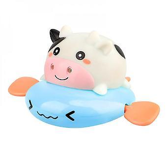 1pcs søt tegneserie dyr trekke badet leketøy ku klassisk baby vann leketøy spedbarn svømme skilpadde oppsagt kjede urverk barn strand leketøy