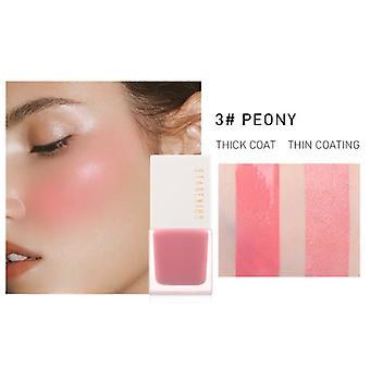 Facial Blush Maquillaje Líquido Rubor Impermeable Cara Natural De Larga Duración Crema de Rubor de mejilla  sonrojarse