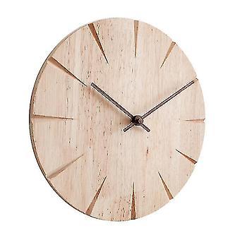 ساعات الجدار ساعة الخشب الصامت ووتش غرفة المعيشة المنزلية خشبية Wallen