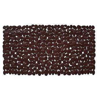 Suorakulmio Mukulakivi kylpymatto liukumaton tyyny kylpyhuone 70 * 36cm (70 * 36cm)(ruskea)