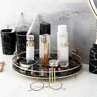 Plateaux de rangement en marbre miroir de style scandinave (Small-b)