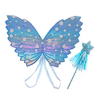 Halloween Angel Wing Fairy Pálca Készlet Színes Pillangó Szárny Csillag Varázspálca kétrészes öltöztetős kellékek