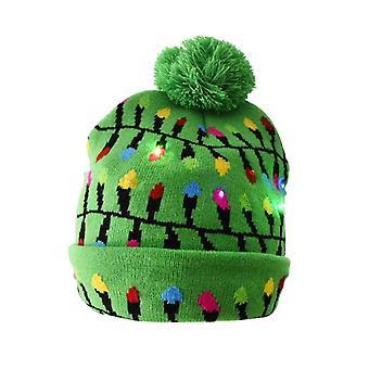 Pălării de Crăciun pulover Santa Elk tricotate Beanie Hat cu LED-uri Light Up Cartoon Patteren cadou de Crăciun pentru copii de Anul Nou consumabile
