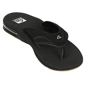 Reef Water Friendly Mens Sandals with Bottle Opener ~ Fanning black/silver