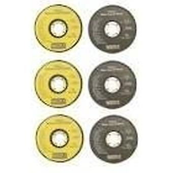 6pc 115mm vinkel slipmaskin Disc Set
