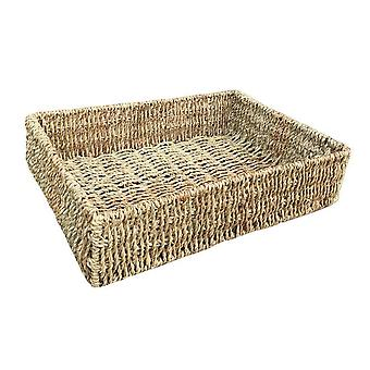 Medium Rectangular Seagrass Tray