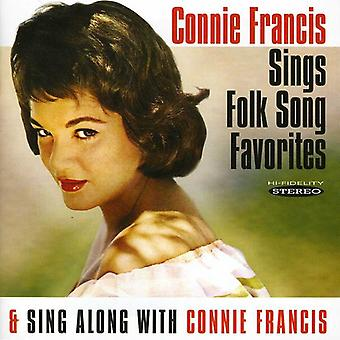 Connie Francis - Sings Folk Song Favorites/Sing Along with Connie F [CD] USA import