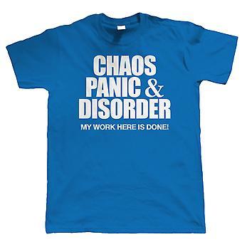 Chaos Panik & Störung, Herren lustige T Shirt, Vatertag Geburtstagsgeschenk