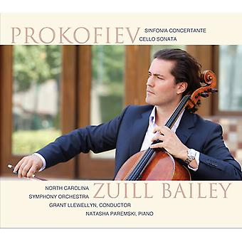 Prokofiev, S. / Bailey, Zuill / Llewellyn, Grant - Sinfonia Concertante in E Minor Op.125 & Cello [CD] USA import