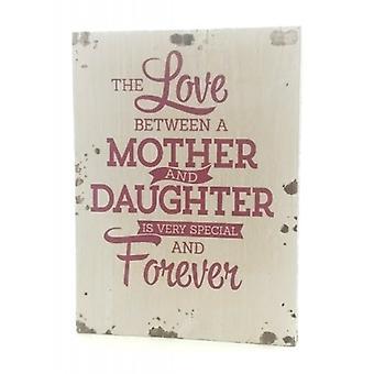 "Houten tekstbord ""Mother & Daughter"""