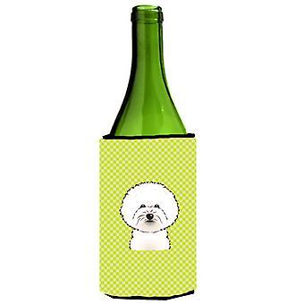 Szachownica lipa zielony Dwuchromian Obszukać butelki wina napojów izolator Hugger