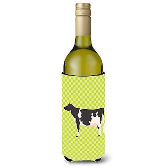 Holstein Cow Green Wine Bottle Beverge Insulator Hugger