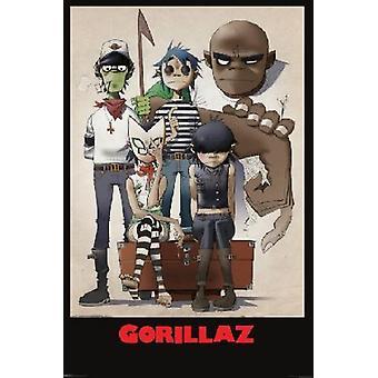 Gorillaz-familie portret Poster Poster afdrukken
