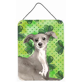 Italienischer Windhund St. Patricks Wand oder Tür hängen Drucke