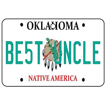 Oklahoma - Best Uncle License Plate Car Air Freshener