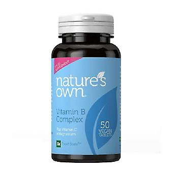 Natures Own Organic B Complex Wholefood, 50 capsules