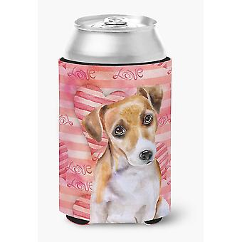 Carolines Treasures  BB9800CC Jack Russell Terrier #2 Love Can or Bottle Hugger