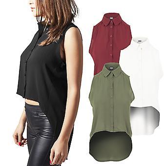 Urban klassikere damer - HiLo chiffon skjorte bluse shirt