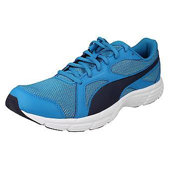 Ladies Puma Lace Up Trainers Axis V4 Mesh 360581 - Atomic Blue/Peacoat - UK Size 6.5 - EU Size 40 - US Size 7.5