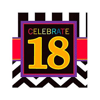 Feliz cumpleaños Chevron servilleta de diseño 18