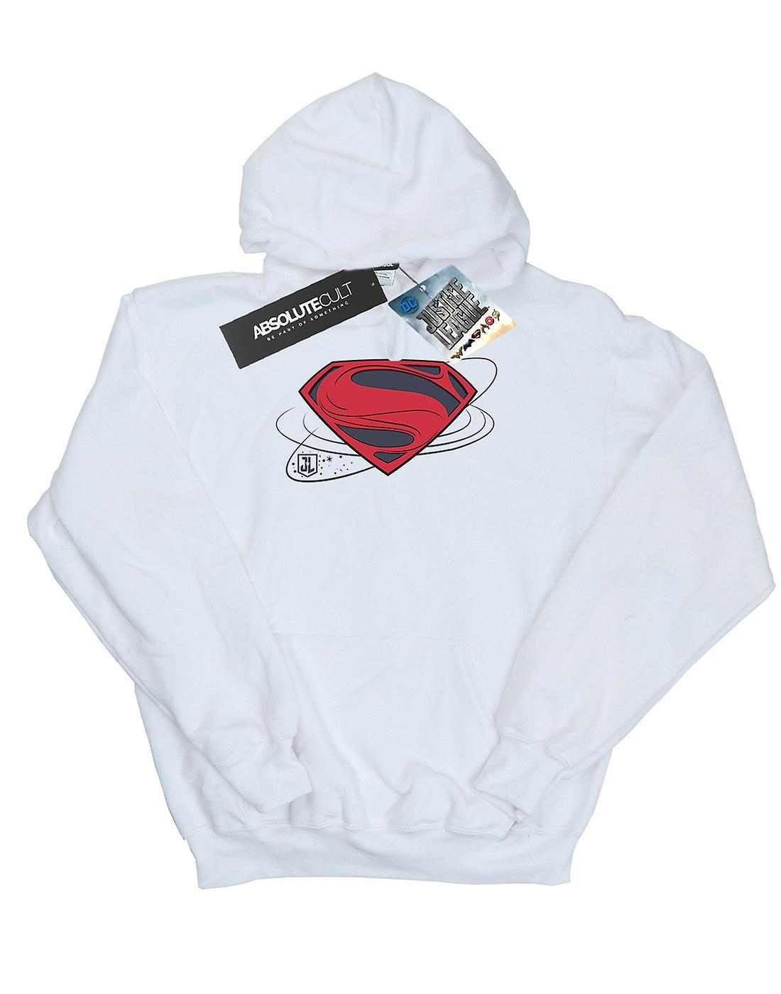 DC Comics Men's Justice League Movie Superman Logo Hoodie