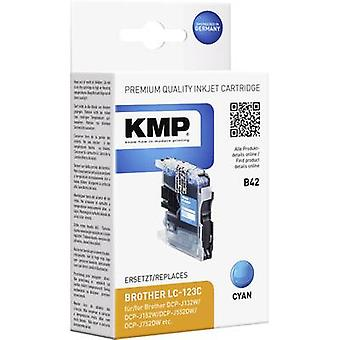 KMP tinta sustituye Brother LC-123 Compatible cian B42 1525,0003