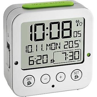TFA 60.2528.54 Radio Alarm clock Silver Alarm times 2