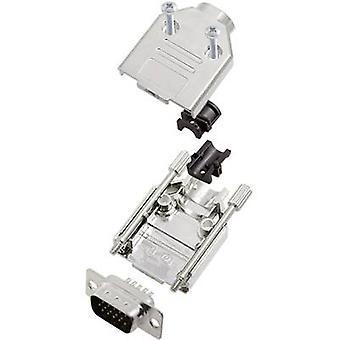 encitech DTPK09-M-HDP15-K 6355-0056-01 D-SUB pin strip set 180 ° Número de pinos: 15 Solder bucket 1 Set