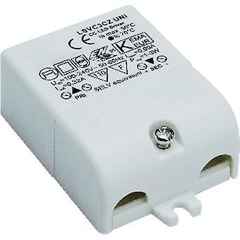 Controlador de LED SLV constante atual 3 W 0.32 A 3-9 Vdc não regulável, proteção contra surtos, aprovado para uso em móveis