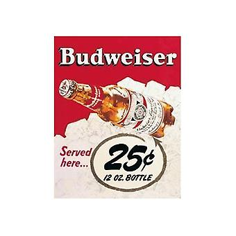 Металлический знак Budweiser 25C