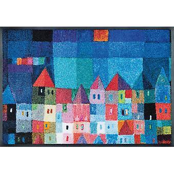 maison colorée de paillasson sèche par Eugen Stross lavable