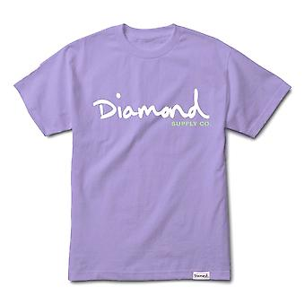Diamond Supply Co OG Script T-shirt Lavender