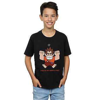 Disney Boys Wreck It Ralph Happy Face T-Shirt