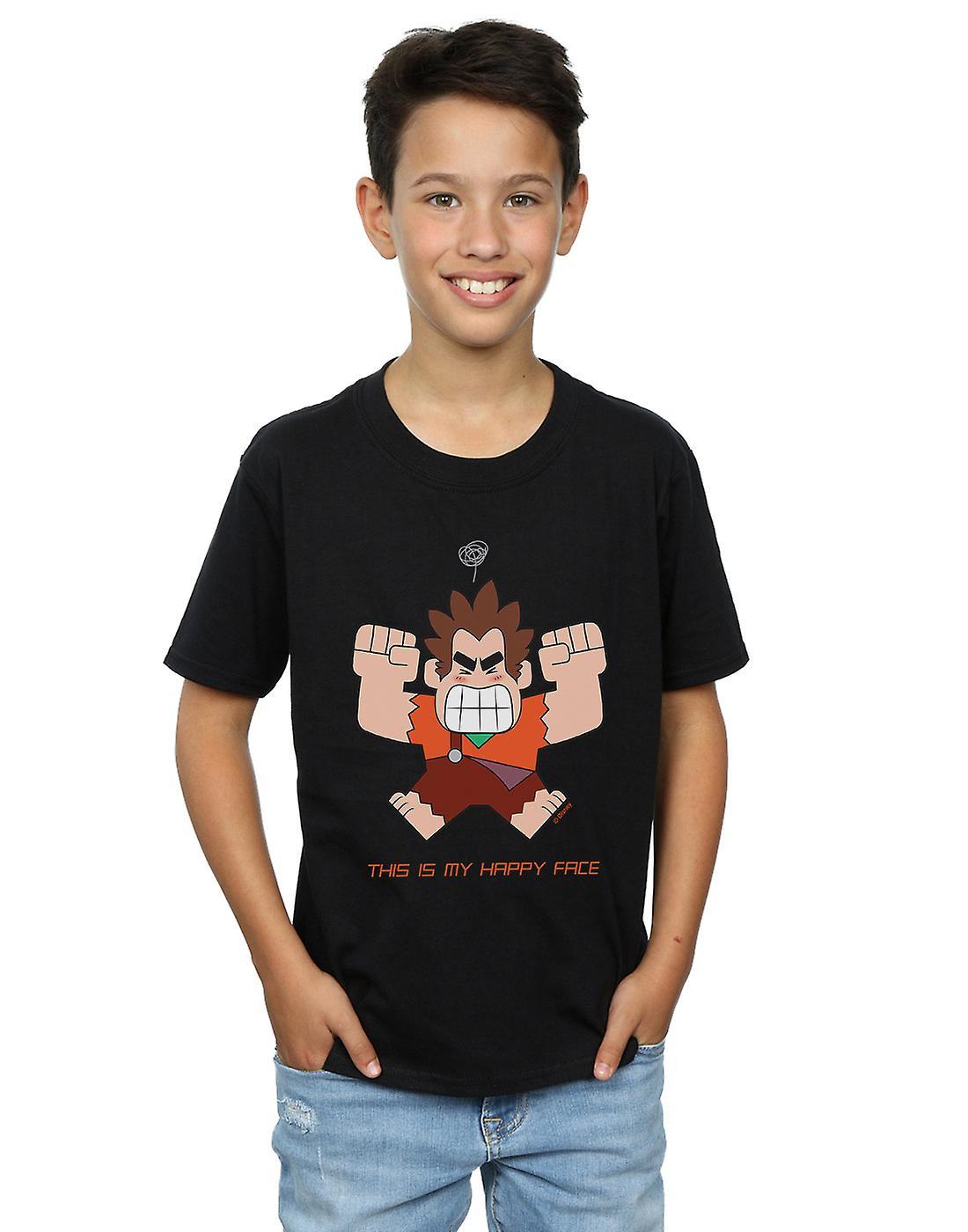 Disney Boys Wreck It Ralph Happy Face T-Shirt