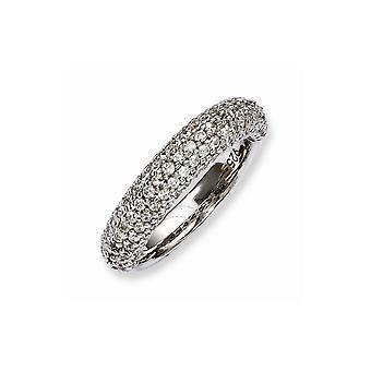 925 Sterling Silver Polerad Prong set Rhodium pläterad med CZ Cubic Zirconia Simulerade Diamantring Smycken Gåvor för Wo