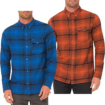 Animal Mens Shadow Long Sleeve One Pocket Button Down Casual Shirt Top