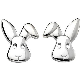 Beginnings Bunny Stud Earrings - Silver