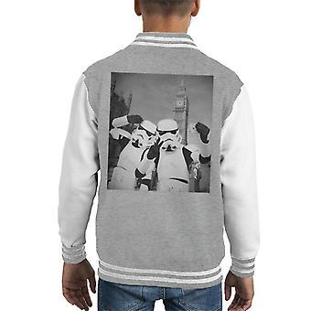 Original Stormtrooper Selfie Big Ben Kid's Varsity Jacket
