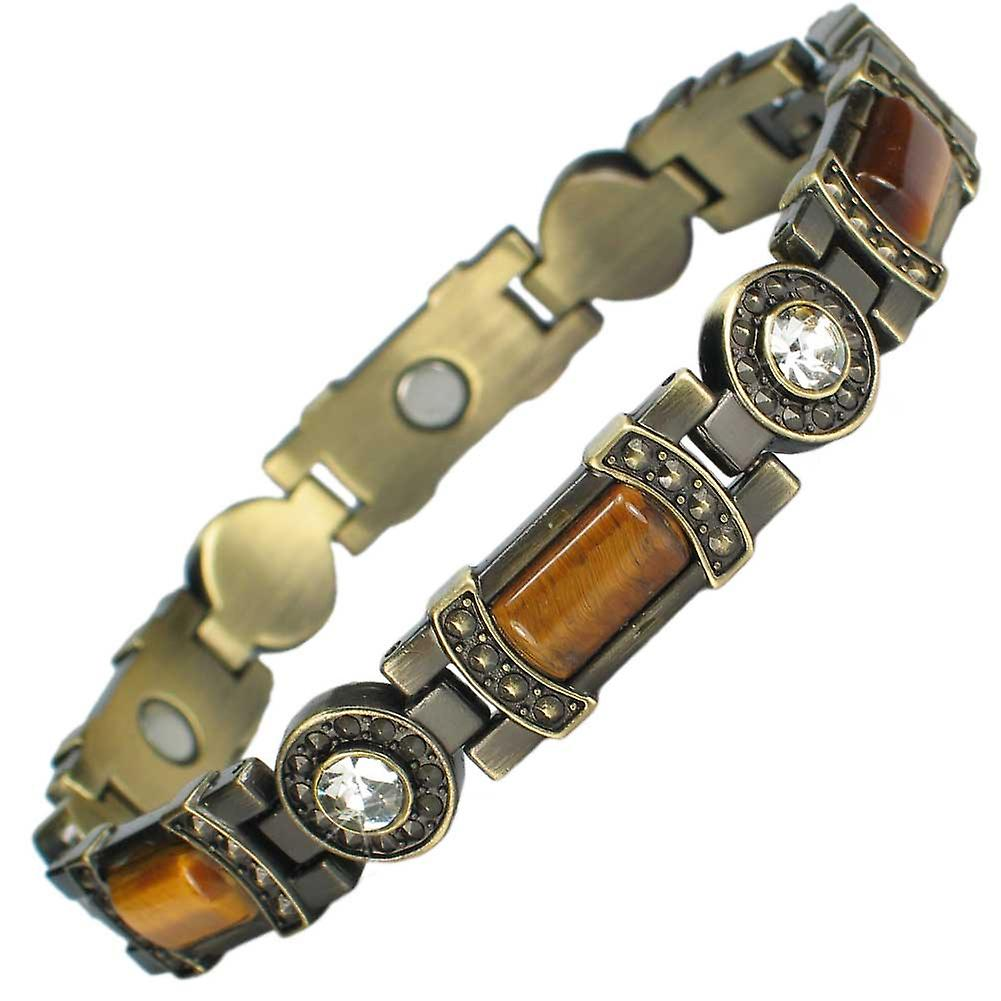 MPS® KARINN Magnetic Bracelet with Amber Stones + FREE Links Removal Tool