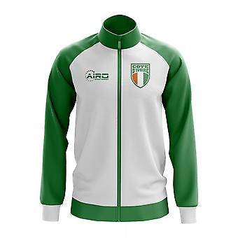 Norsunluurannikko käsite jalkapallo Track Jacket (valkoinen)