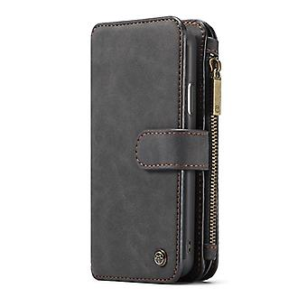 CASEME iPhone X/XS Retro leather wallet Case-Black