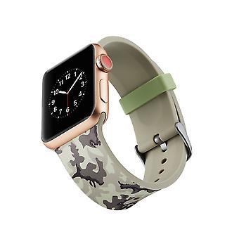 Curea ceas silicon pentru Apple Watch 4 44mm, 3/2/1 42mm-gri camuflaj