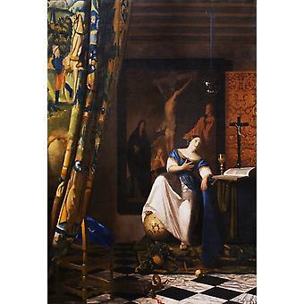 The Allegory of the Faith wet, Johannes Vermeer, 60x40cm