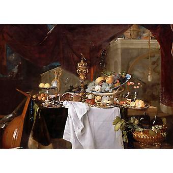 Fruits et Vaisselle: un postre, Jan Davidsz. De Heem, 60x40cm