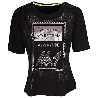 Tuzzi One Life Mid Sleeve Black T-shirt
