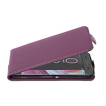 Custodia Cadorabo per Sony Xperia XA Case Cover - Custodia per telefono in Flip Design in pelle finta strutturata - Custodia custodia custodia Custodia Case Case