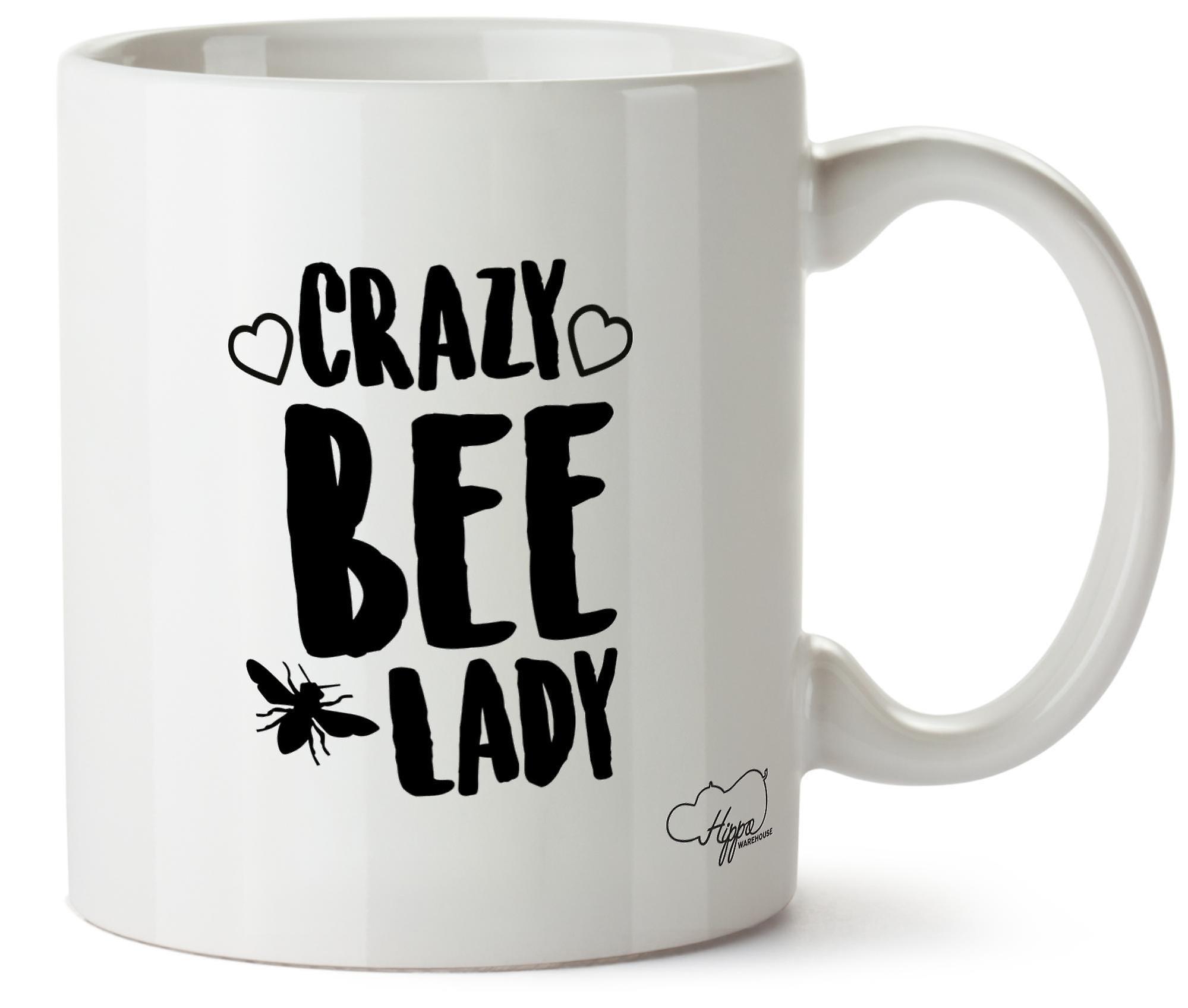 Hippowarehouse Crazy Bee Lady Printed Mug Cup Ceramic 10oz